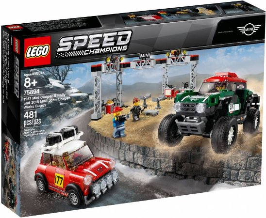 Lego Speed Champions 75894 Mini Cooper Rally e Buggy