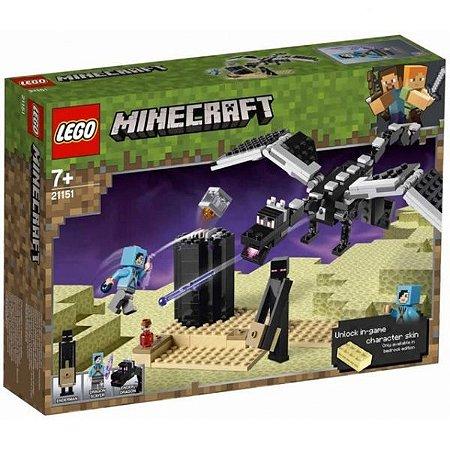 Lego Minecraft 21151 O Combate do Fim 222 Peças
