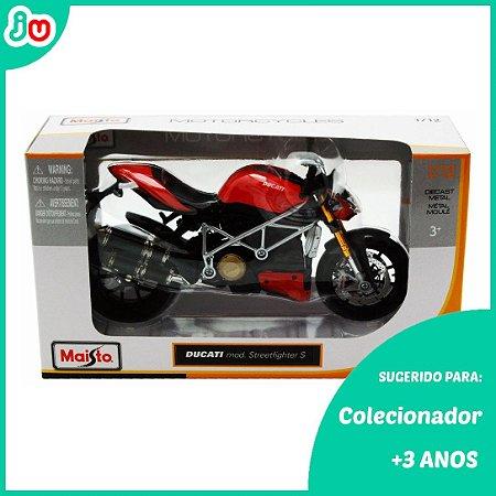 Moto Miniatura 1:12 Ducati Streetfighter S  Maisto Vermelha