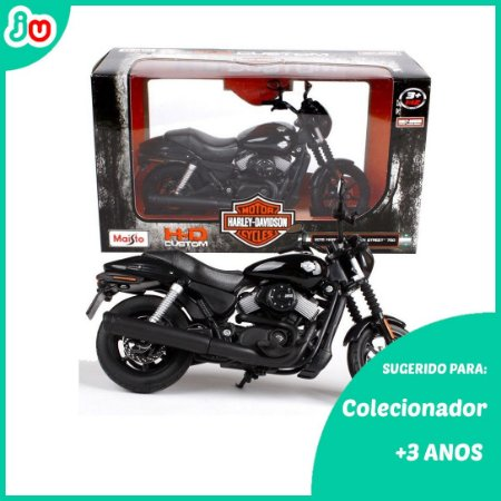 Moto Harley Davidson 2015 Street 750 Preto Maisto 1:12
