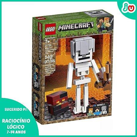 Lego Minecraft BigFig 21150 Esqueleto com Cubo Magma 142 pc