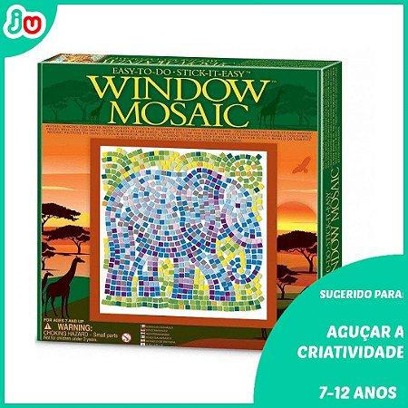 Mosaico de Janela 4M Escolha Safari Girafa ou Elefante