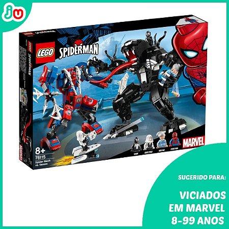Lego Marvel Super Heroes 76115 Aranha Spider Man Robô Venom