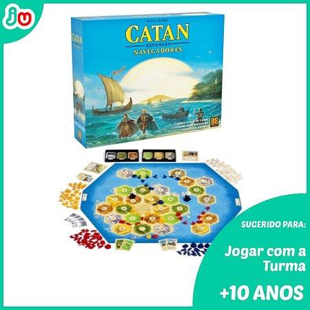 Jogo de Tabuleiro Catan Expansão Navegadores Grow boardgame