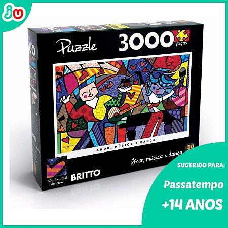 Quebra Cabeça 3000 - Amor Música e Dança Romero Britto Grow