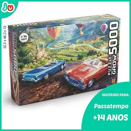 Quebra Cabeça 5000 peças Vale dos Sonhos Puzzle Carros Grow