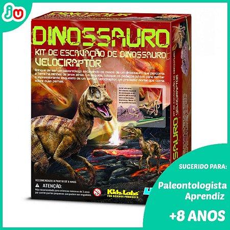 Kit de Escavação de Esqueleto - Velociraptor - 4M