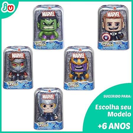 Kit  2un Mighty Muggs Marvel Hasbro - Escolha o Boneco