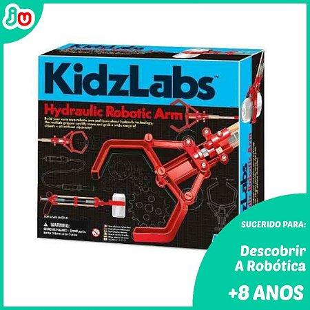 Brinquedo STEM Kit Braço Hidráulico Kidzlabs 4M