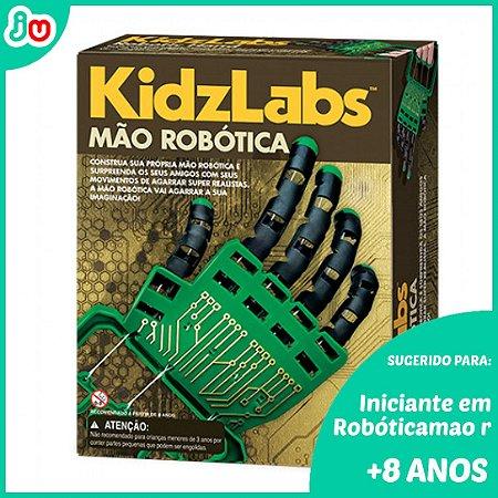 Kit Mão Robótica 4M Kidzlabs Brinquedo STEM