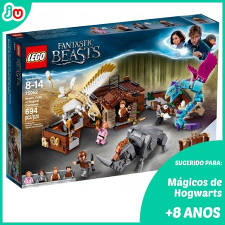 Lego Harry Potter A Mala de Criaturas Magicas de Newt 75952