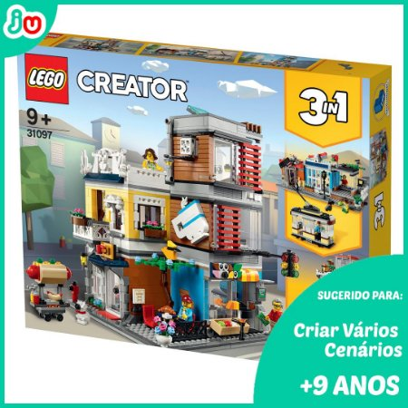 Lego Creator 31097 Casa da Cidade com Loja de Animais e Cafe