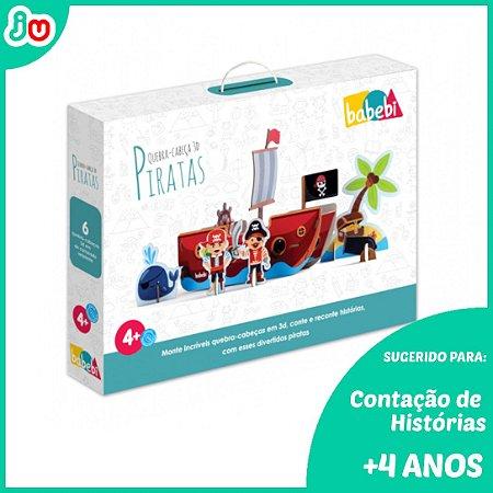 Brinquedo Criativo Quebra-Cabeça 3D Piratas Babebi +4 anos