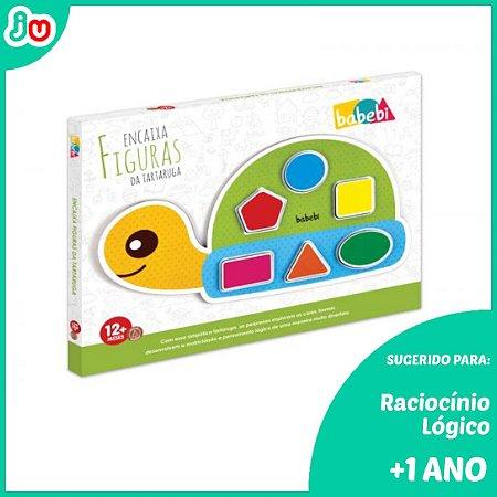 Brinquedo Criativo de Madeira Encaixa Tartaruga - Babebi