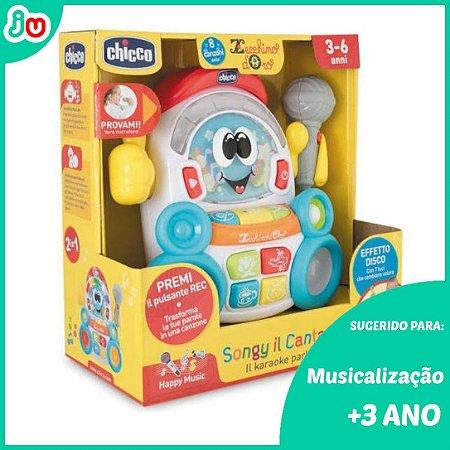 Brinquedo Karaokê Robob O Gravador Falante - Chicco