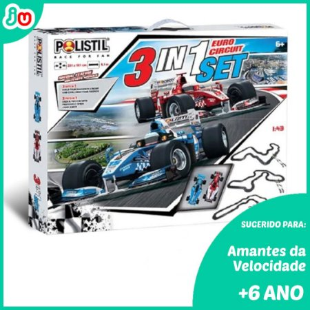 Polistil Slot Car 96094 Autorama 3em1 European Circuit 1/43