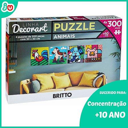 Quebra-Cabeça Decorart 4un x P300 Animais Romero Britto