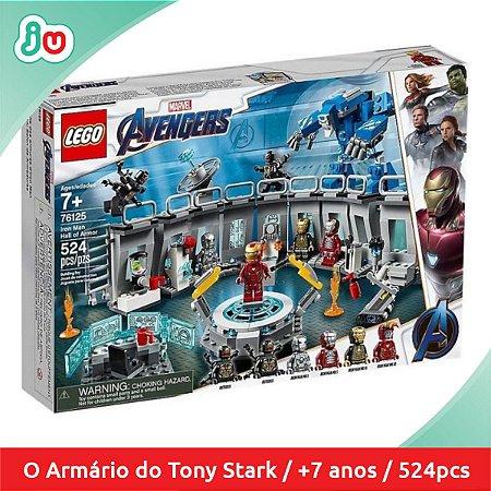 Lego Vingadores 76125 Salão das Armaduras do Homem de Ferro