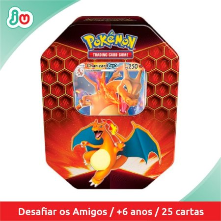 Pokémon Lata Destinos Ocultos Charizard GX 25 cards