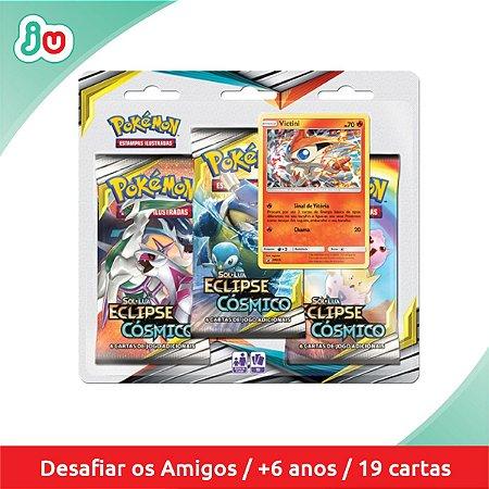 Blister Triplo Pokémon TCG Eclipse Cósmico - Victini