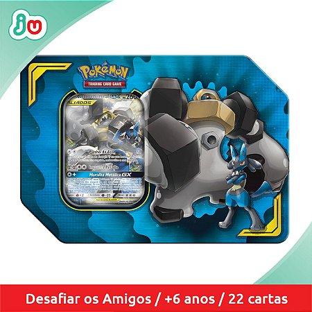 Pokémon TCG Lata Parceria Poderosa Lucario e Melmetal