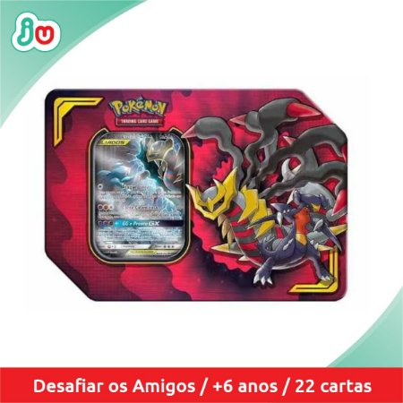 Pokémon TCG Lata Parceria Poderosa Garchomp e Giratina GX
