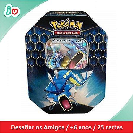 Pokémon Lata Destinos Ocultos Gyarados GX 25 cards