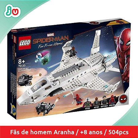 Lego Marvel 76130 Avião de Stark e Ataque Drone Homem Aranha