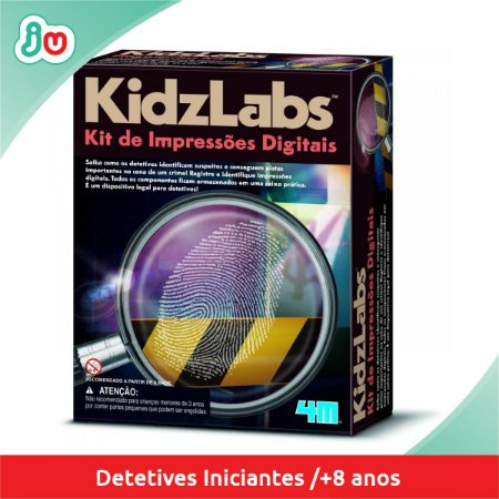 Kit de Impressões Digitais Kidzlabs 4M