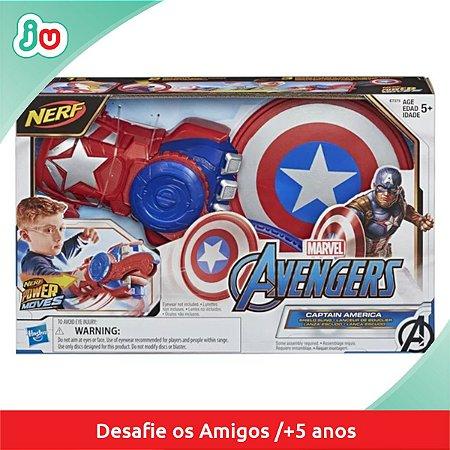 Nerf Lança Escudo Capitão América Marvel Hasbro Vingadores E7375