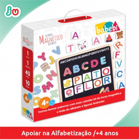 Brinquedo de Alfabetização Quadro Magnético Alfabeto Babebi