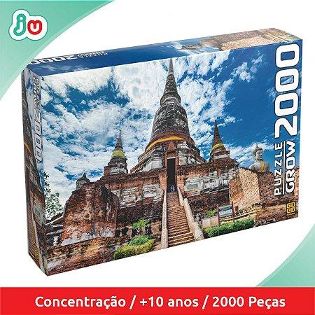 Quebra Cabeça Templo Tailandês Puzzle 2000 Peças Grow