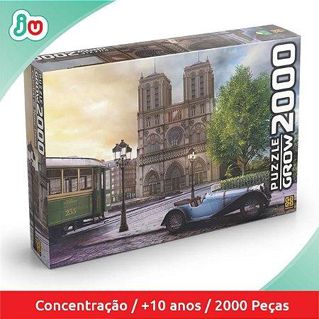 Quebra Cabeça Catedral de Notre-Dame Puzzle 2000 Peças Grow