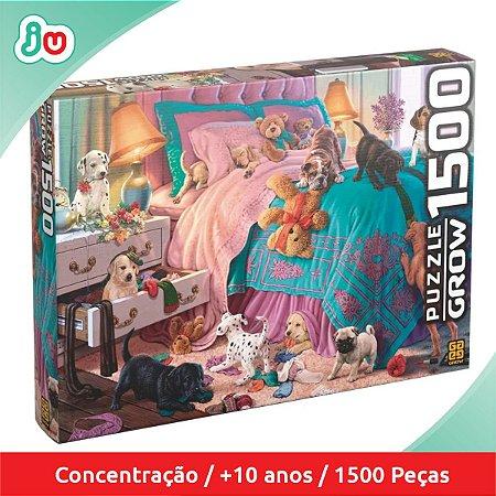 Quebra Cabeça Filhotes em Ação Puzzle 1500 peças Grow