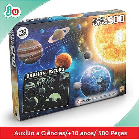 Quebra-Cabeça P500 Sistema Solar Brilha no Escuro - Grow