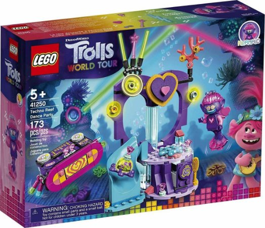 Lego Trolls World Tour 41250 Festa De Dança Techno No Recife