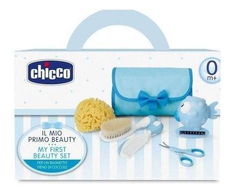 Conjunto De Higiene Cuidados Bebê Menino Azul  Chicco 059341