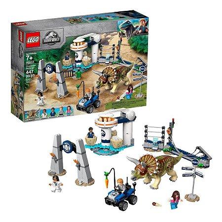 Lego Jurassic World 75937 A Furia Do Triceratops 447 Peças