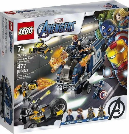 Lego Marvel Vingadores 76143 Ataque De Caminhão Vingadores