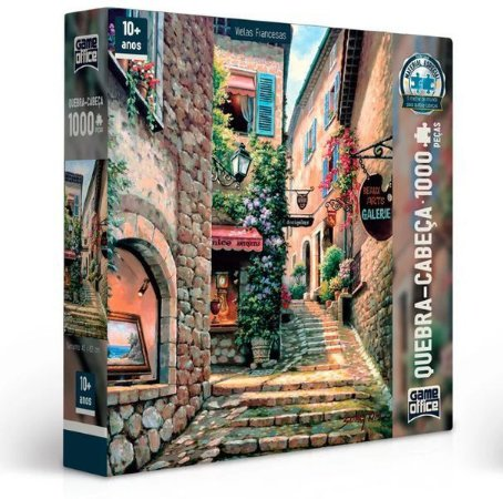 Quebra Cabeça Puzzle Vielas Francesas Dia P1000 Game Office