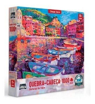 Quebra-cabeça Pinturas Da Itália Peças Cinque Terre P1000