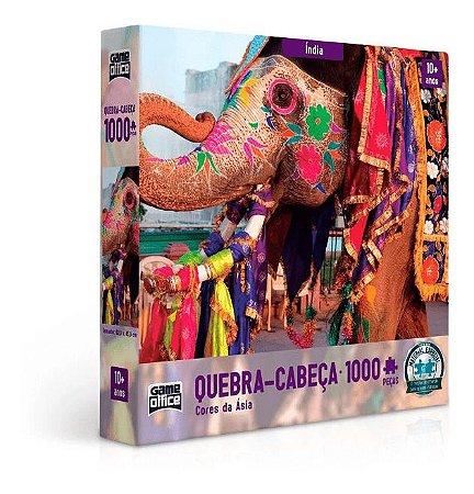 Quebra Cabeça Cores Da Asia India 1000 Peças Toyster
