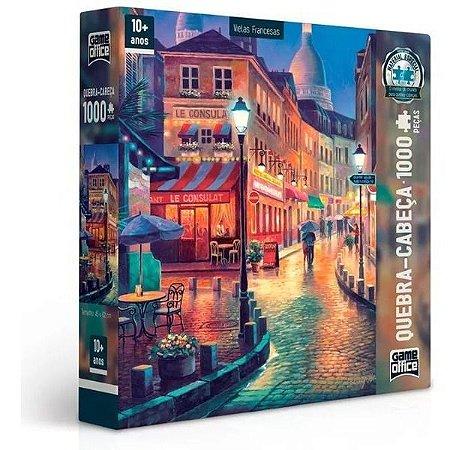 Quebra Cabeça Vielas Francesas 1000 Peças Toyster Noite