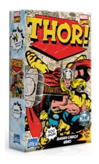 Quebra Cabeça Puzzle Nano Marvel Thor 500 Peças 2617