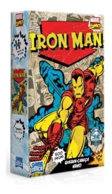 Quebra Cabeça Puzzle Nano Marvel Iron Man 500 Peças 2617