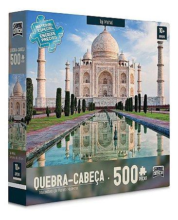 Quebra Cabeça 500 Peças Maravilhas Mundo Moderno Taj Mahal