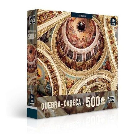Quebra-cabeça 500 Peças - Arte Sacra - Afrescos Game Office