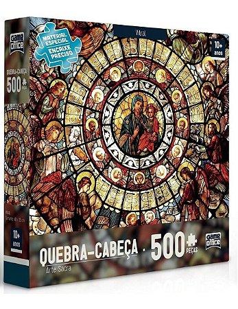 Quebra Cabeça 500 Peças Arte Sacra VitralToyster