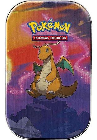 Mini Lata Pokémon Dragonite Poder De Kanto Cartas