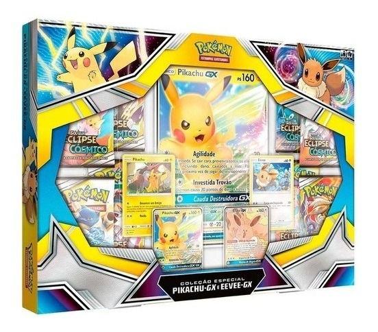 Pokémon Box Coleção Pikachu-gx E Eevee-gx - Copag